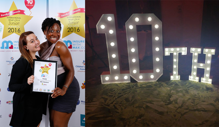 What's On 4 Awards 10th Birthday Celebrations